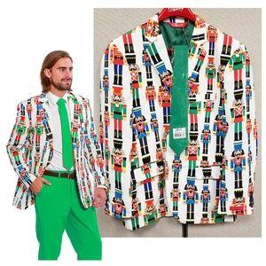 Nutcracker Christmas Blazer & Matching Tie NWT
